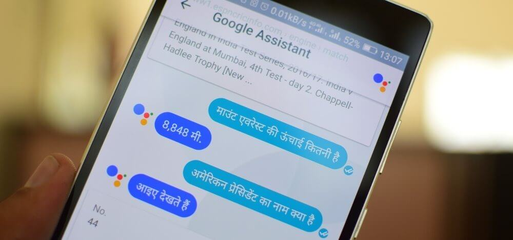 Google Assistant Hindi Mobile