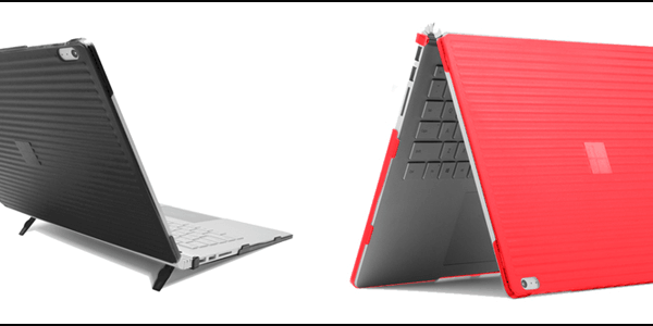 Grey and Pink Color Hard Shell Case of iPearl mCover on Surface Book 2 15 Inch
