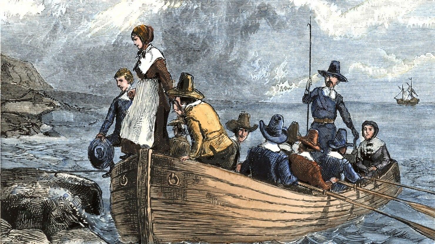 Pilgrims Sailed through Ocean to America