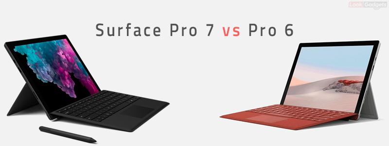 Microsoft Surface Pro 7 vs Surface Pro 6
