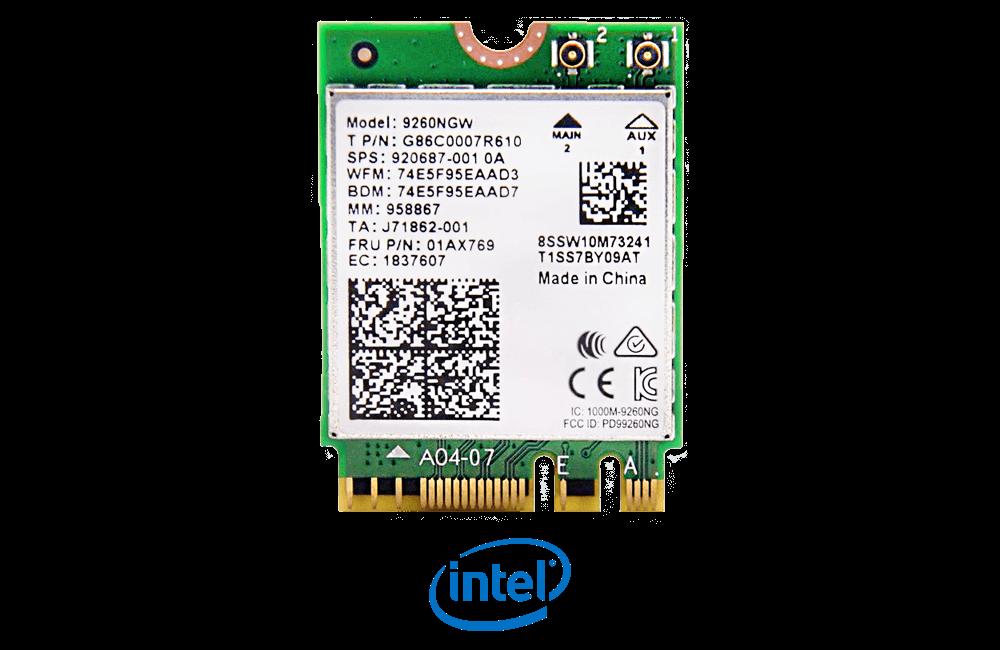 Intel Wireless AC 9260 Dual Band WiFi Card with Bluetooth 5.0
