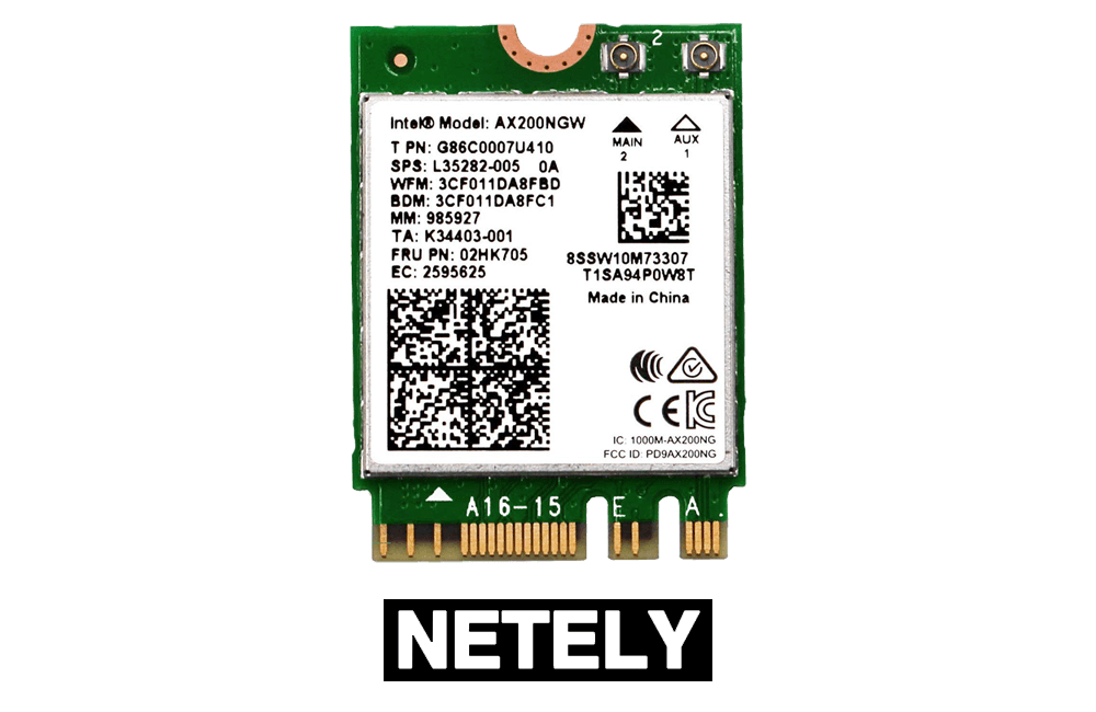 NETELY Wi-Fi 6 AX200 NGW