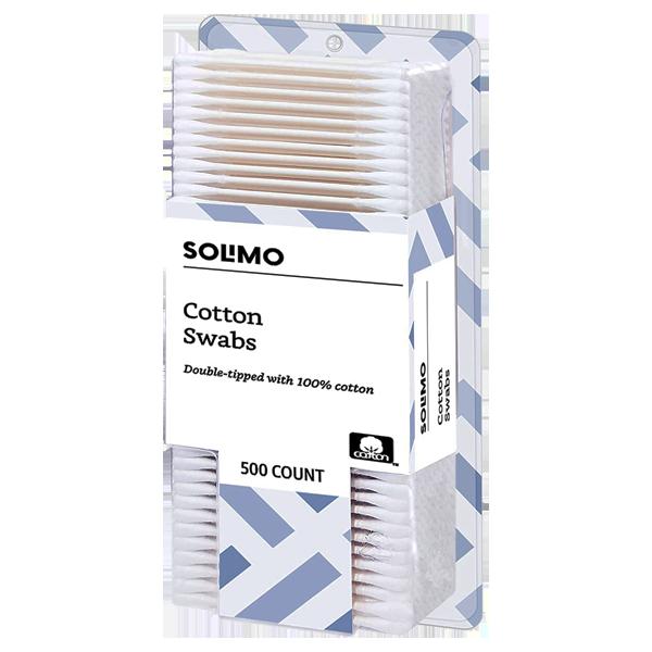 Amazon Solimo Cotton Swabs