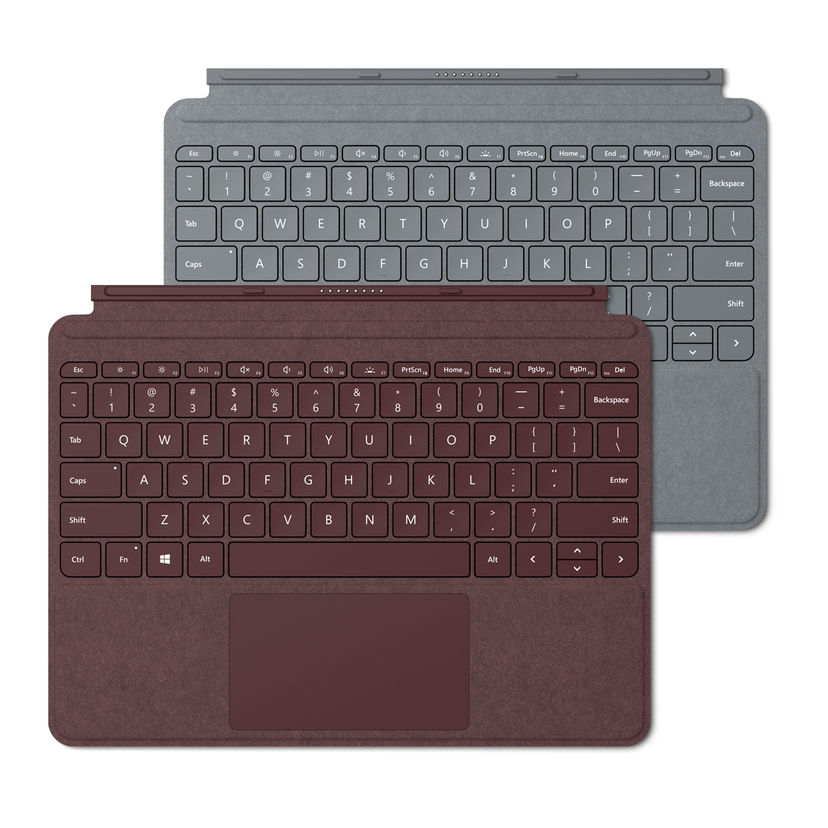 Surface Go Type Cover Burgundy and Platinum
